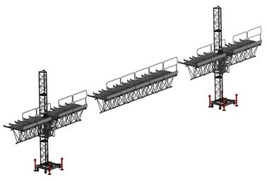 Mast Suspended Access Platform Climbing Aerial Work With Single Cage atau Double Cage