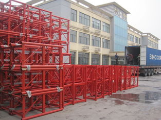 Mast Building Material Konstruksi Lifting Hoist Parts Customized Color Painting
