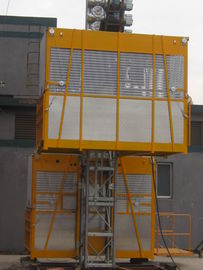 VFD Building Cage Hoist Mengangkat Twin Cage 3200kg dengan High Speed